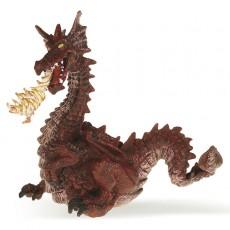 Figurne Dragon rouge avec flamme - Papo