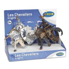 Boite présentoir de 4 figurines maïtre des armes cimier Taureau et Licorne - Papo
