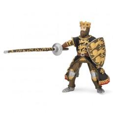 Figurine Roi Richard à la Lance Noir et Or - Papo