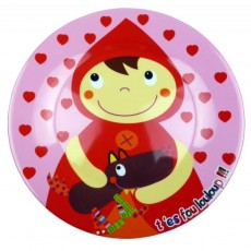 Assiette plate Chaperon Rouge - Ebulobo