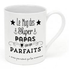 Mug porcelaine - Le mug des super papas - Créa Bisontine