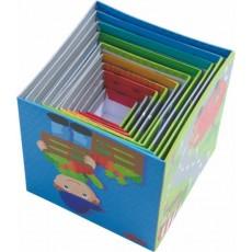 Cubes à empiler Petits bolides - Haba