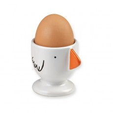 Coquetier en porcelaine Poule Orange - Bandjo - Atomic Soda