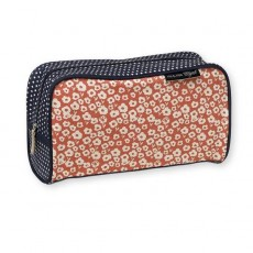 Trousse de toilette - Fleurette orange - Mr & Mrs Clynk
