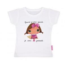 Tee-shirt manches courtes Gourmande - Quand je serai grand(e) par Isabelle Kessedjan