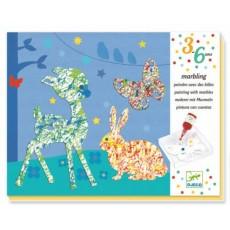 Peinture avec des billes - Défilé Multicolore - Djeco