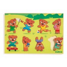 Puzzle bois - Teddymatch - Djeco