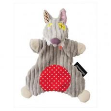 Doudou marionnette Bigbos le loup - Les Déglingos