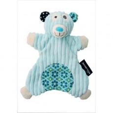 Doudou marionnette Illicos l'ours polaire - Les Déglingos