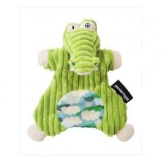 Doudou marionnette Aligatos l'alligator - Les Déglingos