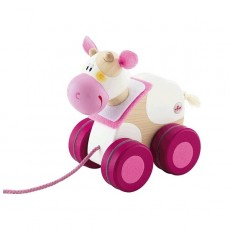 Mini jouet à traîner Vache - Sevi