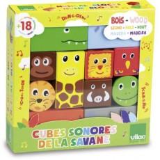Cubes sonores Animaux de la savane - Vilac