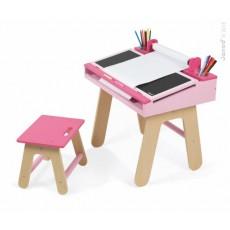 Bureau et chaise d'écolier Rose - Janod