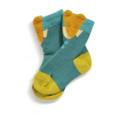 Socquettes bleues Martin Les Petits Habits Tartempois hiver - Moulin Roty