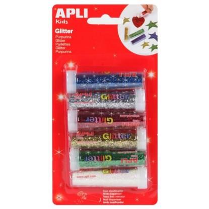 6 tubes de paillettes en poudre - APLI Kids
