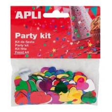 Sachet de confettis coeurs - APLI Kids