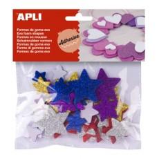 Sachet d'étoiles en mousse adhésive à paillettes - APLI Kids