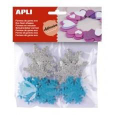 Sachet de flocons de neige en mousse à paillettes - APLI Kids