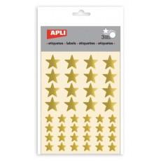 Gommettes métallisées étoile Or - APLI Kids