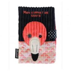 Protège carnet de santé Flamingos le flamant rose - Les Déglingos