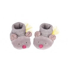 Chaussons souris gris Les Pachats - Moulin Roty