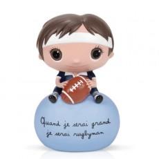 Tirelire Rugbyman - Quand je serai grand(e) par Isabelle Kessedjan