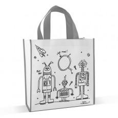 Sac cabas à colorier Robots - Marielle Bazard
