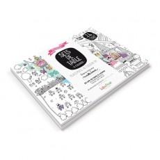 Carnet de 24 sets de table à colorier - Princesse - Marielle Bazard