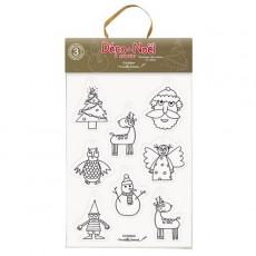 Pochette de Noël à colorier - Marielle Bazard