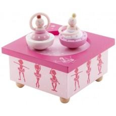 Boîte à Musique Bois Ballerine rose - Trousselier