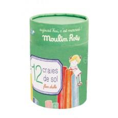 Boîte de 12 craies la marelle Aujourd'hui c'est mercredi - Moulin Roty