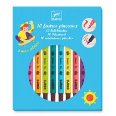Les couleurs - 10 feutres pinceaux - Pop - Djeco