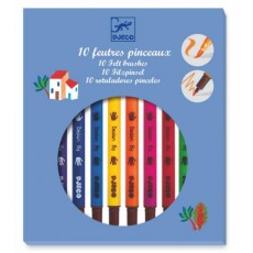 10 feutres pinceaux - classique - Djeco