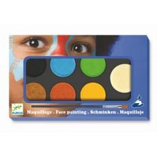 Maquillage - Palette et accessoires 6 couleurs nature - Djeco
