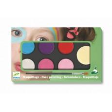 Maquillage - Palette et accessoires 6 couleurs Sweet - Djeco