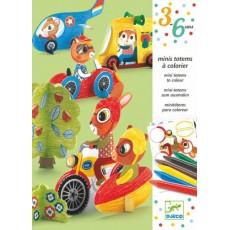 Mini totems à colorier - Vroum vroum - Djeco