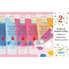 6 tubes de peinture à doigts - Sweet - Djeco