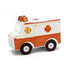 Ambulance 3D en carton à assembler - Krooom