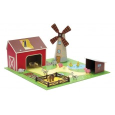 Ferme avec figurines et accessoires - Krooom