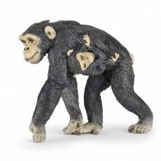 Figurine Chimpanzé et son bébé - Papo