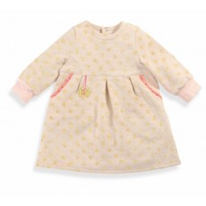Nini Robe beige/rose Les Petits Habits Tartempois hiver 2017 - Moulin Roty