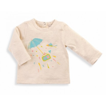 Naomie Tee-shirt crème Les Petits Habits Tartempois hiver 2017 - Moulin Roty