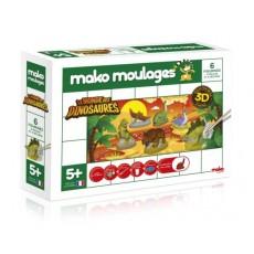 Moulage en plâtre Le monde des dinosaures - Mako Créations