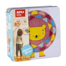 Jeu de gommettes boîte métal lion - APLI Kids