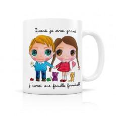 Mug céramique Famille - Quand je serai grand(e) par Isabelle Kessedjian