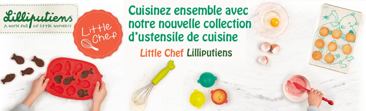 Collection d'ustensile de cuisine Little Chef par Lilliputiens